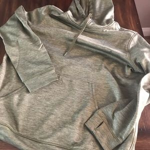 Army green adidas pull over XXL